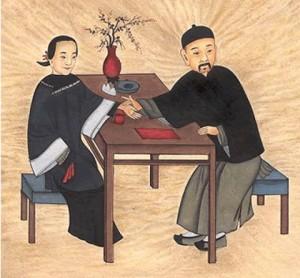 Plusdiagnostik-Kinesisk-gammal-bild